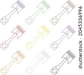 full color engine pistons icon... | Shutterstock .eps vector #2045336996