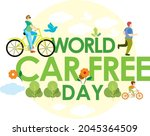 world car free day vector... | Shutterstock .eps vector #2045364509