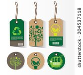 eco tags. | Shutterstock .eps vector #204537118