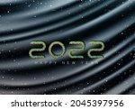 luxurious dark wavy background...   Shutterstock .eps vector #2045397956