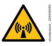 warning sign  non ionising...   Shutterstock .eps vector #204540490