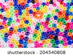 beads pied colored | Shutterstock . vector #204540808