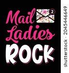 mail ladies rock  female mail... | Shutterstock .eps vector #2045446649