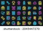 veterinary clinic icons set.... | Shutterstock .eps vector #2045447270