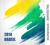 brazil summer 2014 vector water ... | Shutterstock .eps vector #204550750