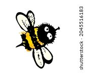 funny bee. child drawing .... | Shutterstock .eps vector #2045516183