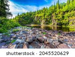 Rocky Bank Of The Forest River. ...