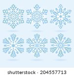 set of stylized color vector... | Shutterstock .eps vector #204557713