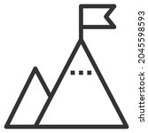 challenge line icon logo vector ... | Shutterstock .eps vector #2045598593