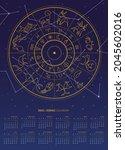 vector illustration of 2022... | Shutterstock .eps vector #2045602016