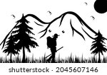 nice mountain and nature vector ... | Shutterstock .eps vector #2045607146