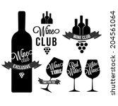 set of wine  wine club  wine... | Shutterstock .eps vector #204561064
