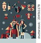 vector illustration on the... | Shutterstock .eps vector #204561178