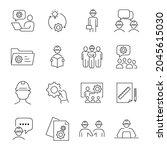 engineering icons set.... | Shutterstock .eps vector #2045615030