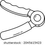 hand grip exerciser. vector... | Shutterstock .eps vector #2045615423