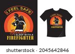 tshirt print with firefighters... | Shutterstock .eps vector #2045642846