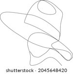 continuous line  drawing of set ... | Shutterstock .eps vector #2045648420