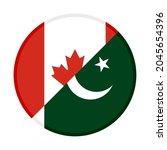 round icon with canada and... | Shutterstock .eps vector #2045654396