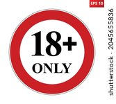 adults only symbol. vector... | Shutterstock .eps vector #2045655836