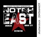 north east design typography... | Shutterstock .eps vector #2045664659
