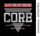 core denim jeans design... | Shutterstock .eps vector #2045667803