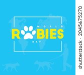 world rabies day poster.... | Shutterstock .eps vector #2045675270