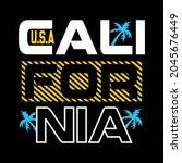 california design typography... | Shutterstock .eps vector #2045676449