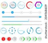 set of loading bars and... | Shutterstock .eps vector #204568609