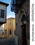 """Amazing cityscape from the """"Old Town of Xanthi"""", worldwide known for its distinctive architecture of neoclassical mansions of Greek merchants from the past centuries. Xanthi, Thrace, Greece."""
