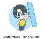 cute teacher boy cartoon...   Shutterstock .eps vector #2045702486