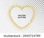 gold dust with sparkles in the...   Shutterstock .eps vector #2045714789