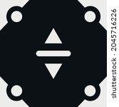 four corner abstract symbol on...