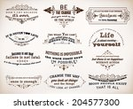 set of quotes posters  vector...   Shutterstock .eps vector #204577300