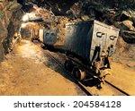 underground mine tunnel  mining ... | Shutterstock . vector #204584128