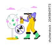 garden pests abstract concept... | Shutterstock .eps vector #2045845973