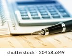 business accounting  | Shutterstock . vector #204585349