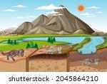 nature landscape scene at... | Shutterstock .eps vector #2045864210