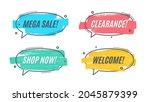 flat promotion original banner  ... | Shutterstock .eps vector #2045879399