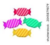 candies vector illustration...   Shutterstock .eps vector #2045879879