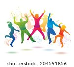 colorful background with... | Shutterstock .eps vector #204591856