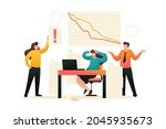 fall in sales  the team of...   Shutterstock . vector #2045935673