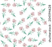 seamless pattern with hand... | Shutterstock .eps vector #204594628