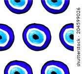 vector background of evil eye.... | Shutterstock .eps vector #204599026