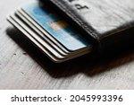 Credit Card Holder Wallet Open...