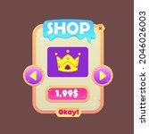 game ui pop up window shop...