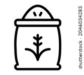rice icon with outline style....