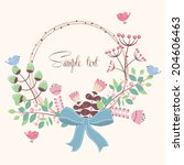 decorative vector card with... | Shutterstock .eps vector #204606463