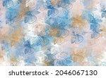 light blue  yellow vector...   Shutterstock .eps vector #2046067130