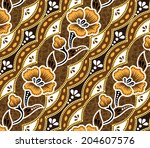 brown batik.beautiful brown... | Shutterstock .eps vector #204607576