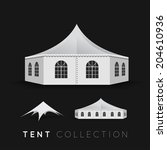 set of tents. vector...   Shutterstock .eps vector #204610936